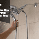 how to remove flow restrictor from moen shower head