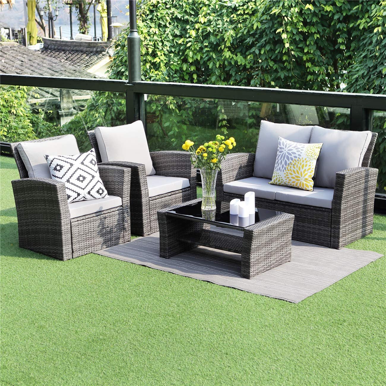 Wisteria Lane 5 Piece Outdoor Patio Furniture Sets