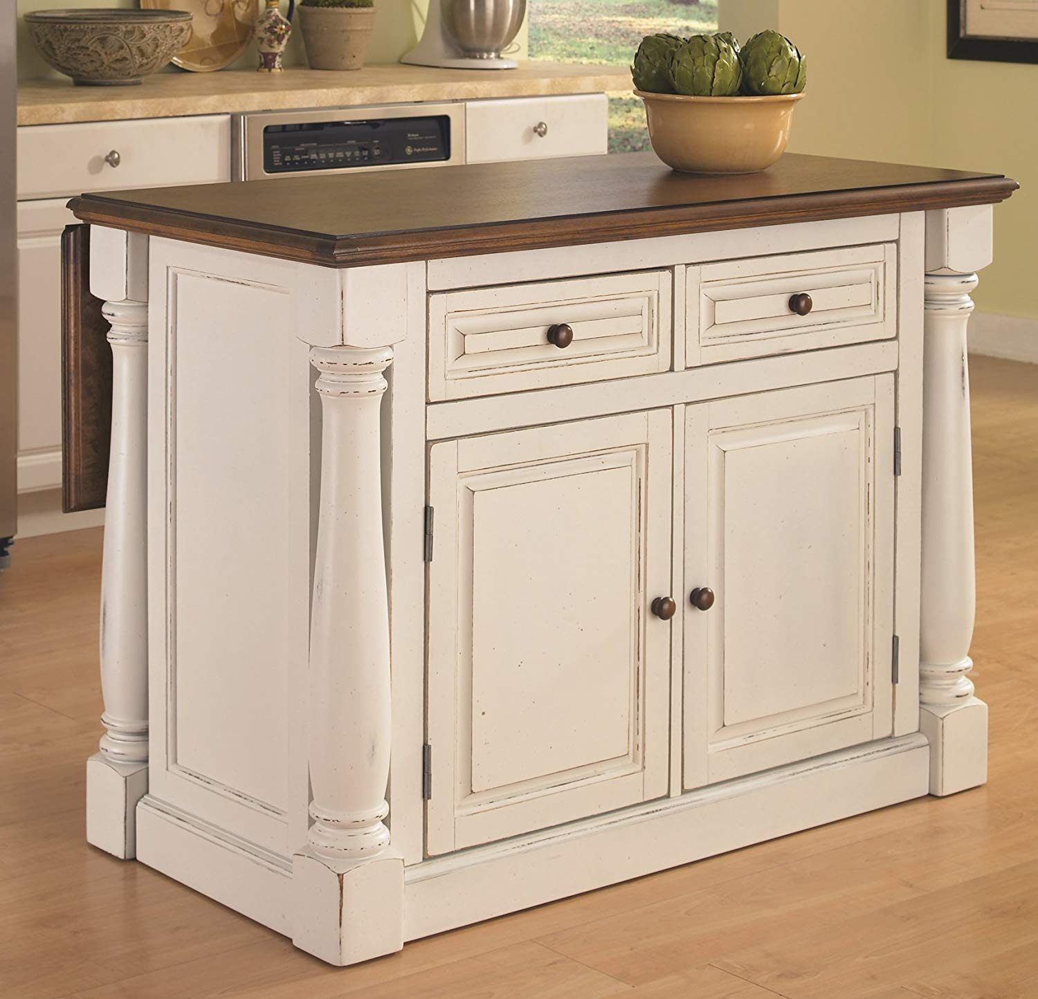 Monarch White Kitchen Island by Home Styles.
