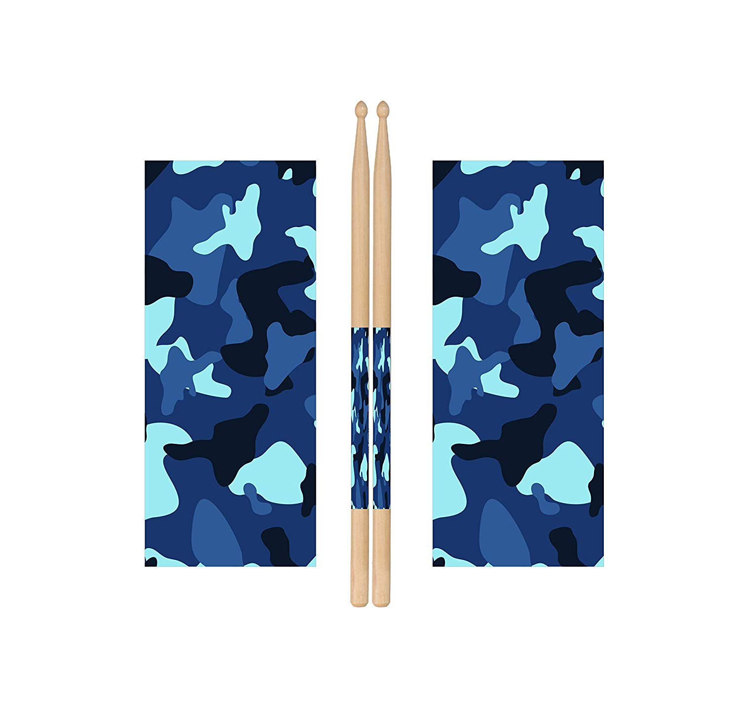Blue Camo Drum Stick Wraps Drum Percussion Stick Wraps