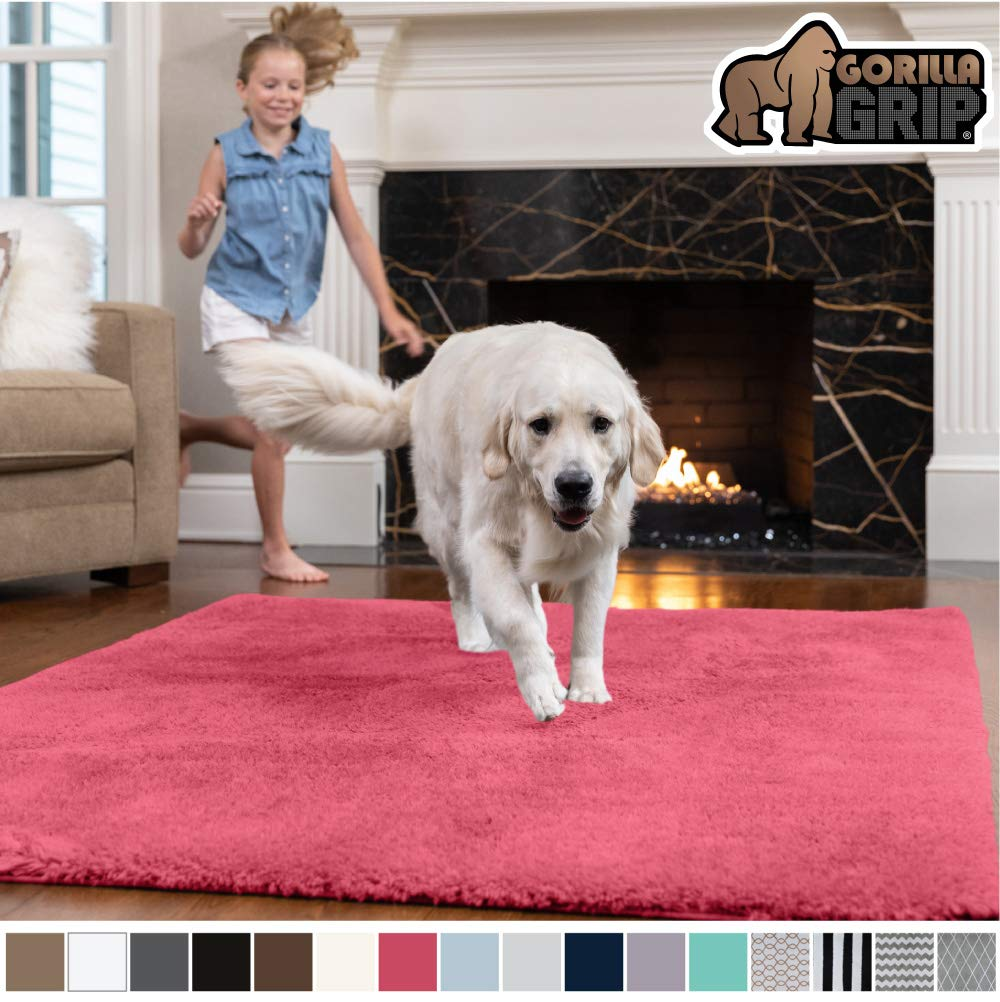 GORILLA GRIP Original Faux-Chinchilla Area Rug, 2x3 Feet, Super Soft and Cozy High Pile Washable Carpet