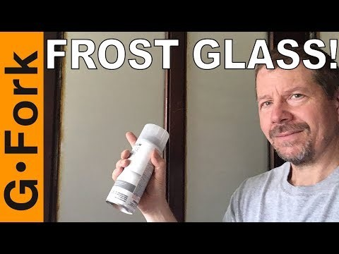 Using Sprays to Make Frosted Glass